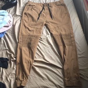 Other - Men's khaki joggers - khaki pants - tan pants